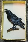Pewter Crow Pin - Product Image